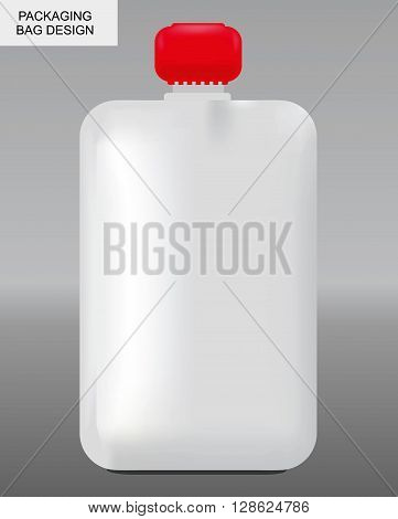 black and white illustration of a packaging with space for your logo