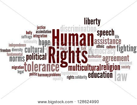Human Rights, Word Cloud Concept 4