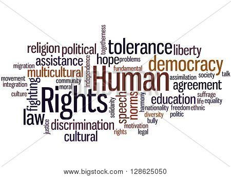 Human Rights, Word Cloud Concept 6