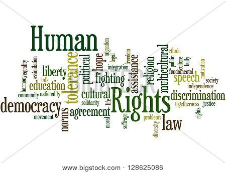 Human Rights, Word Cloud Concept 9