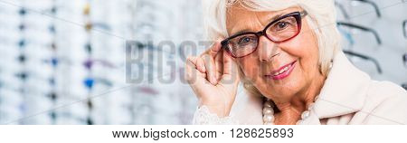 Senior Lady In Glasses