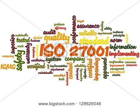 Iso 27001 - Information Security Management, Word Cloud Concept 5