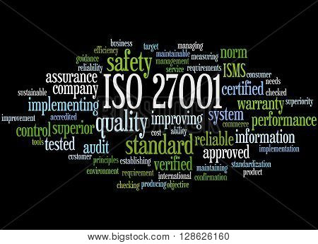 Iso 27001 - Information Security Management, Word Cloud Concept 8