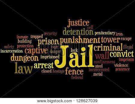Jail, Word Cloud Concept 6