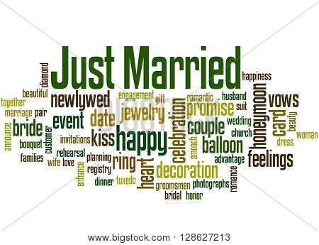Just Married, Word Cloud Concept
