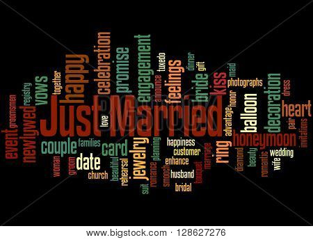 Just Married, Word Cloud Concept 5