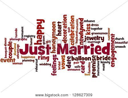 Just Married, Word Cloud Concept 7