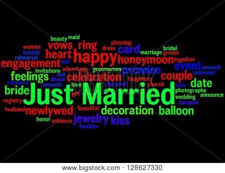 Just Married, Word Cloud Concept 8