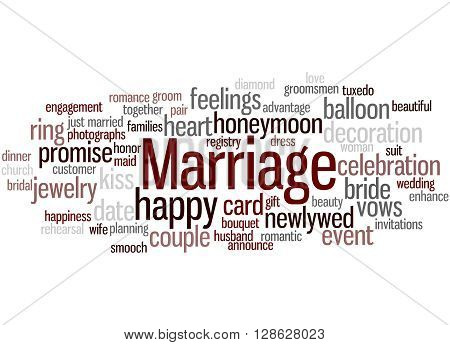 Marriage, Word Cloud Concept
