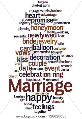 Marriage, Word Cloud Concept 3