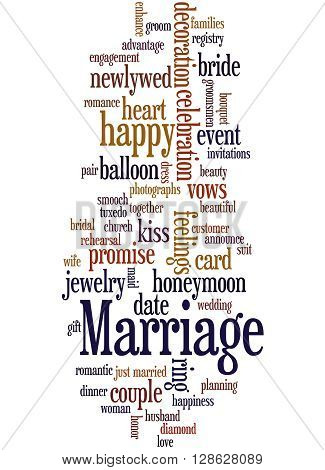 Marriage, Word Cloud Concept 5