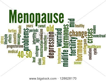 Menopause, Word Cloud Concept