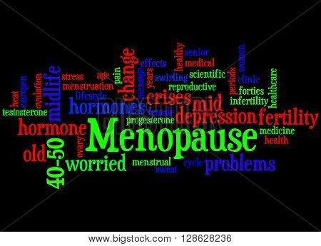 Menopause, Word Cloud Concept 6