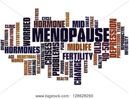 Menopause, Word Cloud Concept 8