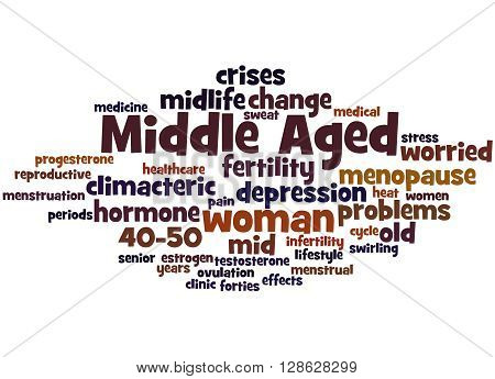 Middle Aged Woman, Word Cloud Concept