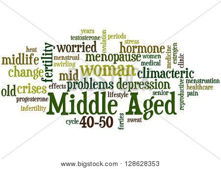 Middle Aged Woman, Word Cloud Concept 5