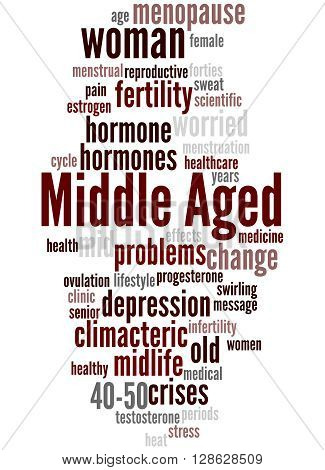 Middle Aged Woman, Word Cloud Concept 9