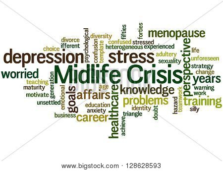 Midlife Crisis, Word Cloud Concept 5