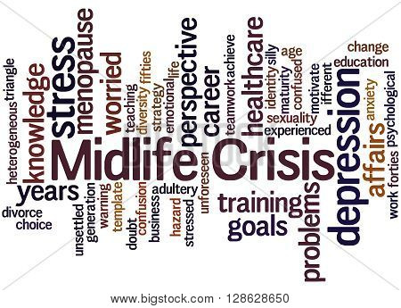 Midlife Crisis, Word Cloud Concept 7