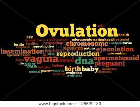 Ovulation, Word Cloud Concept