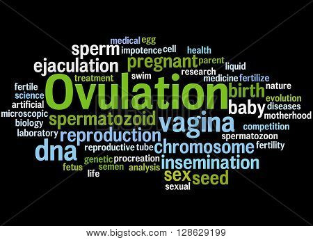 Ovulation, Word Cloud Concept 2