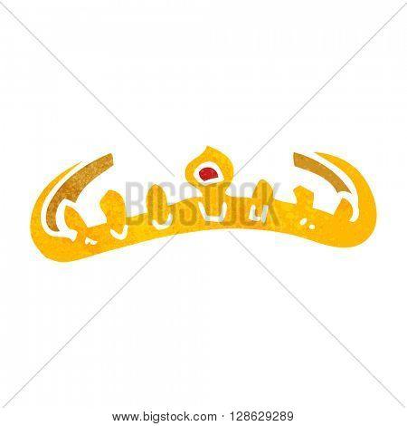 freehand retro cartoon tiara