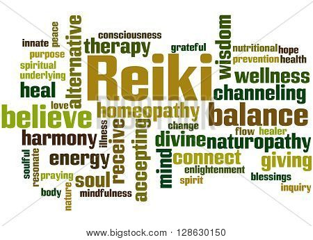 Reiki, Word Cloud Concept 3