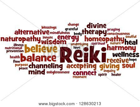 Reiki, Word Cloud Concept 4
