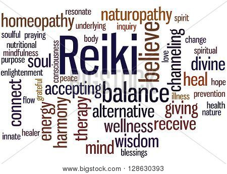 Reiki, Word Cloud Concept 8