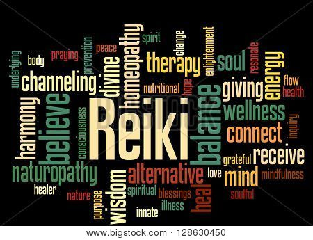 Reiki, Word Cloud Concept 9
