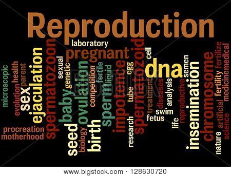 Reproduction, Word Cloud Concept 6