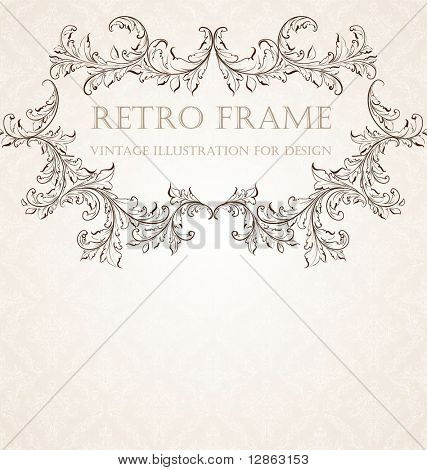 Vertical vintage background for Book cover vector