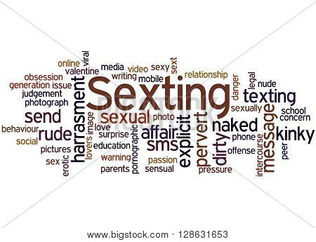 Sexting, Word Cloud Concept 2