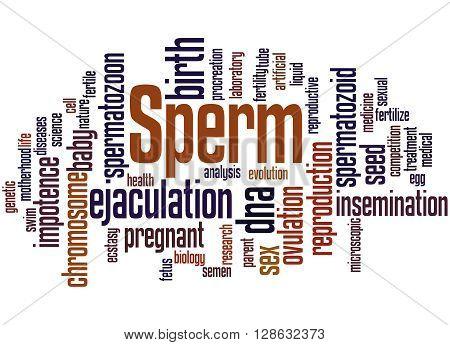 Sperm, Word Cloud Concept 6