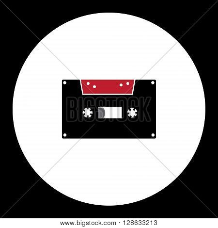 Old Audio Cassette Simple Isolated Icon Eps10