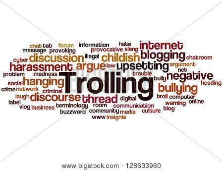 Trolling, Word Cloud Concept 8