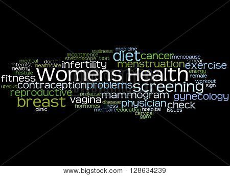 Womens Health, Word Cloud Concept 4