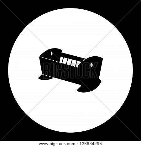 Simple Black Silhouette Of Baby Cradle Icon Eps10