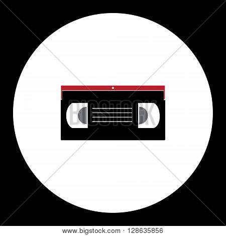 Old Video Cassette Simple Isolated Icon Eps10