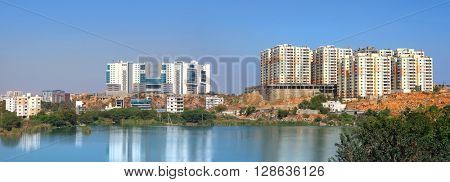 Hitec city is a information technology hub in Hyderabad, India