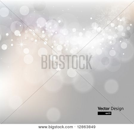 Licht Silber abstract Christmas Background with white snowflakes