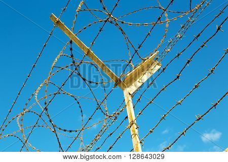 In Oman Barbwire In  Sky