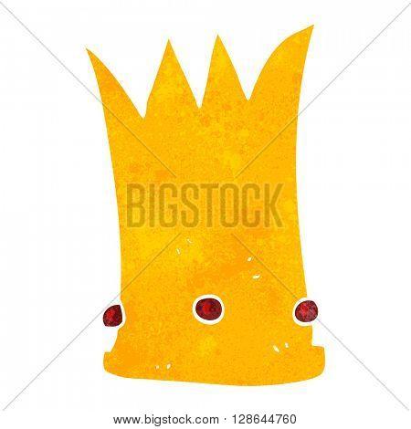 freehand retro cartoon tall crown