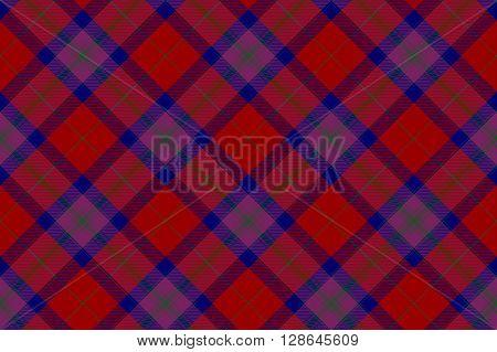 Pride of scotland autumn tartan seamless diagonal pattern .Vector illustration. EPS 10. No transparency. No gradients.