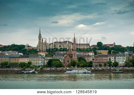 picturesque view on Budapest from Danube