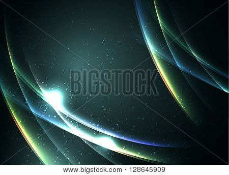 Abstract sky lights, vector background