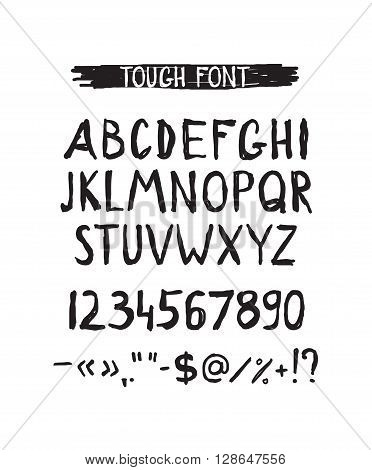 Grunge tough simple font. Universal alphabet with capital letters ...