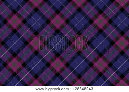 Pride of scotland tartan fabric diagonal texture seamless pattern .Vector illustration. EPS 10. No transparency. No gradients.