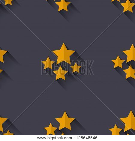 Seamless pattern with stars. Flat design. Good for web print and wrapping paper
