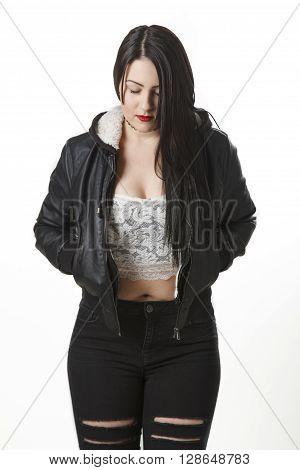 Pensive Punk Woman
